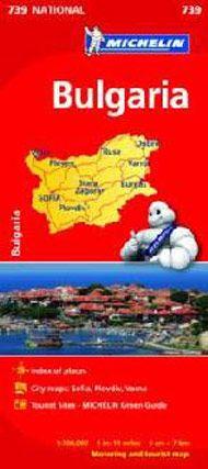 Michelin National Map - 739-Bulgaria