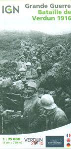 IGN Historical Map - Battle Of Verdun 1916