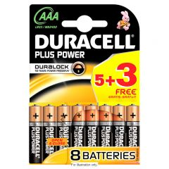 Duracell Plus Power Batteries - AAA Box Of 10 (5+3) (17)