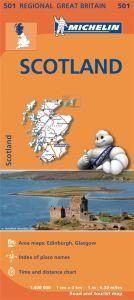 Michelin Regional Map - 501 - Scotland