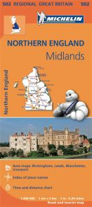 Michelin Regional Map - 502 - Northern England & The Midlands