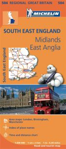 Michelin Regional Map - 504 - SE England, The Mids & E Anglia