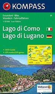 Kompass Maps - Lago Di Como / Lugano D/I 91gps