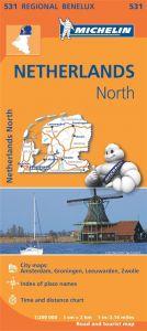 Michelin Regional Map - 531-Noord-Nederland/Pays-Bas Nord
