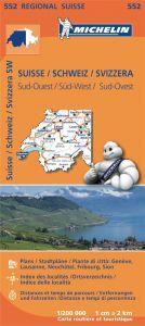 Michelin Regional Map - 552-Suisse Sud-Ouest (SW)