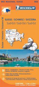 Michelin Regional Map - 553-Suisse Sud-Est (SE)