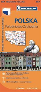 Michelin Regional Map - 557-Poland Southwest