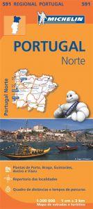 Michelin Regional Map - 591-Portugal Norte (N)