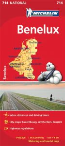 Michelin National Map - 714-Benelux