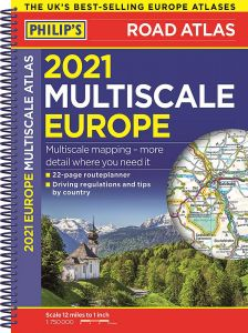 Philips Road Atlas - Multi Europe A4 - Spiral