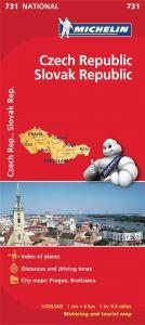 Michelin National Map - 731-Czech/Slovak Republic