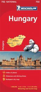 Michelin National Map - 732-Hungary