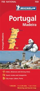 Michelin National Map - 733-Portugal & Madeira