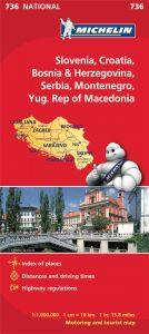 Michelin National Map - 736-Slovenia, Croatia, Bosnia