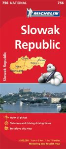 Michelin National Map - 756-Slovak Republic