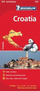 Michelin National Map - 757-Croatia