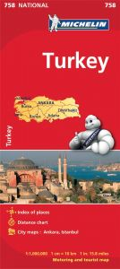 Michelin National Map - 758-Turkey