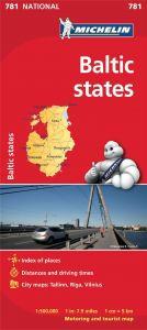Michelin National Map - 781-Baltic States