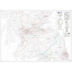 OS Admin Boundry Map - Southern Scotland & Northumberland