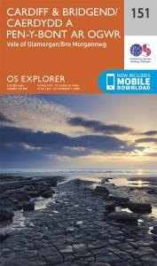OS Explorer - 151 - Cardiff & Bridgend