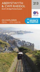 OS Explorer - 213 - Aberystwyth & Cwm Rheidol