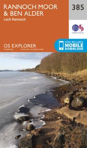 OS Explorer - 385 - Rannoch Moor & Ben Alder
