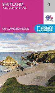 OS Landranger - 1 - Shetland – Yell, Unst and Fetlar