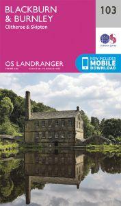 OS Landranger - 103 - Blackburn & Burnley, Clitheroe & Skipton