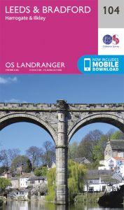 OS Landranger - 104 - Leeds & Bradford, Harrogate & Ilkley