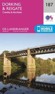 OS Landranger - 187 - Dorking, Reigate & Crawley