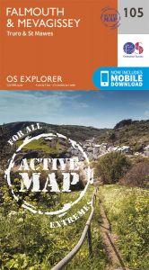 OS Explorer Active - 105 - Falmouth & Mevagissey