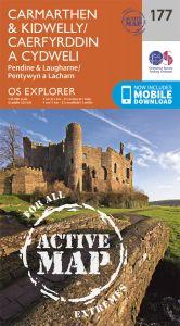 OS Explorer Active - 177 - Carmarthen & Kidwelly