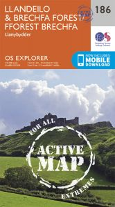 OS Explorer Active - 186 - Llandeilo & Brechfa Forest