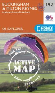 OS Explorer Active - 192 - Buckingham & Milton Keynes