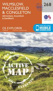 OS Explorer Active - 268 - Wilmslow, Macclesfield & Congleton
