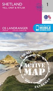 OS Landranger Active - 1 - Shetland – Yell, Unst and Fetlar