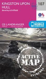 OS Landranger Active - 107 - Kingston upon Hull, Beverley & Driffield