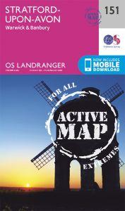 OS Landranger Active - 151 - Stratford upon Avon, Warwick & Banbury