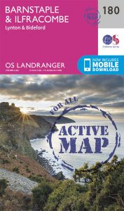 OS Landranger Active - 180 - Barnstaple & Ilfracombe, Lynton