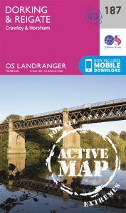 OS Landranger Active - 187 - Dorking, Reigate & Crawley