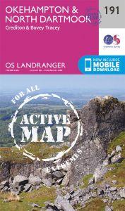 OS Landranger Active - 191 - Okehampton & North Dartmoor