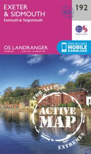 OS Landranger Active - 192 - Exeter & Sidmouth, Exmouth & Teignmouth