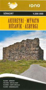 Ferdakort - Iceland Regional - Akureyri / Myvatn / Husavik / Asbyrgi