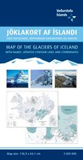 Ferdakort - Iceland Regional - Iceland: map of the Glaciers of Iceland