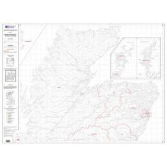 OS Admin Boundry Map - North Scotland