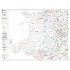 OS Admin Boundry Map - Wales