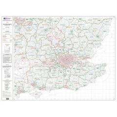 OS Admin Boundry Map - South East England