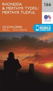 OS Explorer - 166 - Rhondda & Merthyr Tydfil
