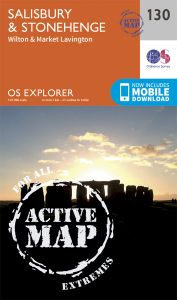 OS Explorer Active - 130 - Salisbury & Stonehenge