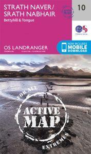 OS Landranger Active - 10 - Strathnaver, Bettyhill & Tongue